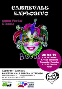 CARNEVALE EXPLOSIVO SPORT & DANCE ZUMBA E REGGAETON TREVISO